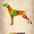 Setter Pointer Poster by Naxart Studio