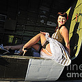 Sexy 1940s Style Pin-up Girl Sitting by Christian Kieffer