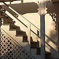 Shadowy Lambertville Stairwell by Anna Lisa Yoder