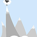 Sheep On Top Of A Mountain by Christy Beckwith