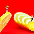 Skateboard Rolling On A Floating Lemon Slice by Paul Ge