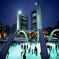 Skating In Nathan Phillips Square, City by Peter Mintz