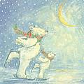 Skating Polar Bears by David Cooke