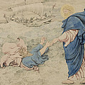 Sketch Of Christ Walking On Water by Richard Dadd