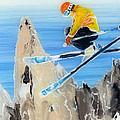 Skiing At Flegere by Sara Pendlebury