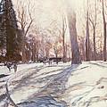 Snow At Broadlands by Paul Stewart