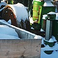 Snow Covered Tractor by PainterArtist FIN