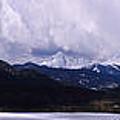 Snow Lake And Mountains by Maria Arango Diener