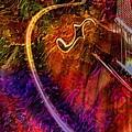 Song And Dance Digital Guitar Art By Steven Langston by Steven Lebron Langston