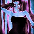 Sophia Loren - Blue Pop Art by Absinthe Art By Michelle LeAnn Scott