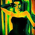Sophia Loren - Neon Pop Art by Absinthe Art By Michelle LeAnn Scott