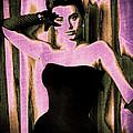 Sophia Loren - Purple Pop Art by Absinthe Art By Michelle LeAnn Scott