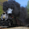 Southern Railway Steam Engine blowing plume of smoke