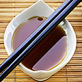 Soy Sauce With Chopsticks by Elena Elisseeva