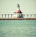 St. Joseph Lighthouse Vintage Picture  by Paul Velgos