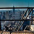 Stairways On Top Of Rockefeller Center by Amy Cicconi