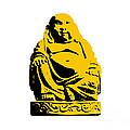 Stencil Buddha Yellow by Pixel Chimp