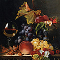 Still Life With Wine Glass And Silver Tazz by Edward Ladell