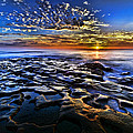 Sunset At La Jolla Tide Pools by Peter Dang