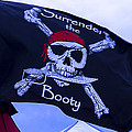 Surrender The Booty Pirate Flag by Garry Gay