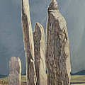 Tall Stones Of Callanish Isle Of Lewis by Evangeline Dickson