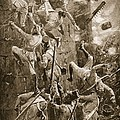 The 5th Division Storming By Escalade by William Barnes Wollen