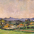 The Chaine De Letoile With The Pilon Du by Paul Cezanne