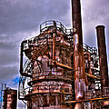 The Compressor Building At Gasworks Park - Seattle Washington by David Patterson