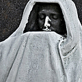 The Face Of Death - Graceland Cemetery Chicago by Christine Till