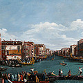 The Grand Canal At Venice by Antonio Canaletto