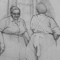 The Help - Housekeepers Of Soniat House Sketch by Jani Freimann