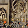 The Interior Of A Gothic Church by Hendrik the Younger Steenwyck