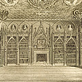 The Library, Engraved By Godfrey by English School