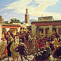 The Moroccan Storyteller by Alfred Dehodencq