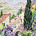 The Old Town Vaison by Julia Gibson