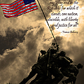 The Pledge Of Allegiance - Iwo Jima 20130211v2 by Wingsdomain Art and Photography