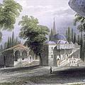Third Court Of The Serai Bournou, C.1850 by William Henry Bartlett