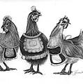 Three French Hens by J Ferwerda