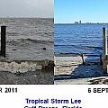 Tropical Storm Lee Difference A Day Makes by Jeff at JSJ Photography