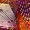 Truly Southern Digital Banjo And Guitar Art By Steven Langston by Steven Lebron Langston