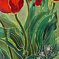 Tulips And Pushkinia by Anna Lisa Yoder