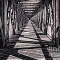 Tulsa Pedestrian Bridge In Black And White by Tamyra Ayles
