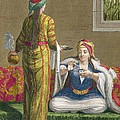 Turkish Girl, Having Coffee by Jean-Baptiste Haussard