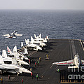 Uss Enterprise Conducts Flight by Stocktrek Images