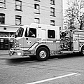 Vancouver Fire Rescue Services Truck Engine 2 Speeding Through Downtown City Streets Bc Canada Delib by Joe Fox