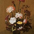 Vase Of Flowers by Hans Bollongier