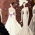 Vera Wang Bridal Dresses Fashion Illustration Art Print by Beverly Brown