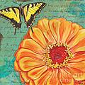 Verdigris Floral 1 by Debbie DeWitt