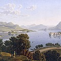 View Of Lake Maggiore And The Borromean by Swiss School