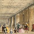 View Of Long Hall At Haddon by Joseph Nash